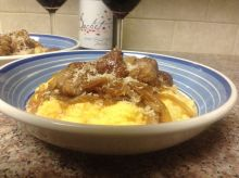 Italian Sausages with Parmesan Polenta