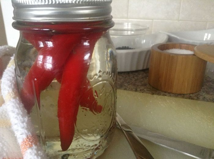 Quick Pickled Chilis