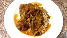 Braised Chicken and Mushrooms