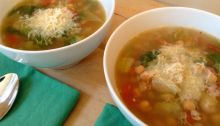 Sicilian Chickpea and Escarole Soup