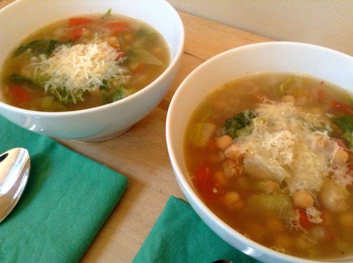 Ceci Bean and Escarole Soup | Sara Makes Soup