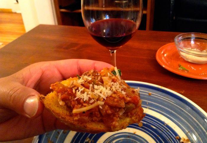 Puttanesca on Toast
