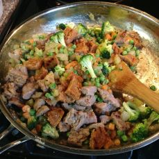 Broccoli, peas in; sausages back in