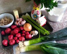 Potato Leek Soup Ingredients (not the butter)
