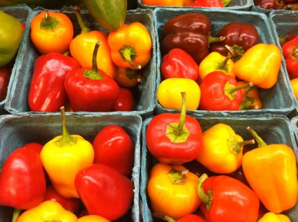 Peppers for the Grilled Corn Relish