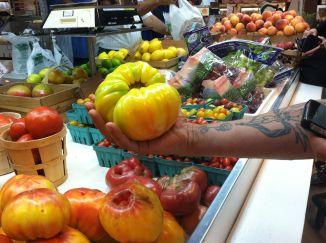 Big heirloom tomatoes.