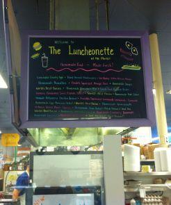The Luncheonette Menu Board