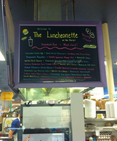 The Luncheonette Menu Board