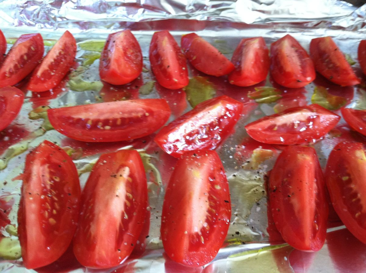 Roasted Roma Tomatoes - ready to roast