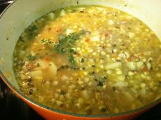 Simmer with fresh thyme.