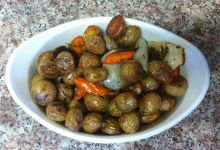 Roasted Baby Potatoes and Carrots