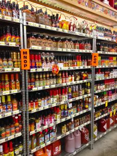 So much hot sauce it has to be alphabetized!