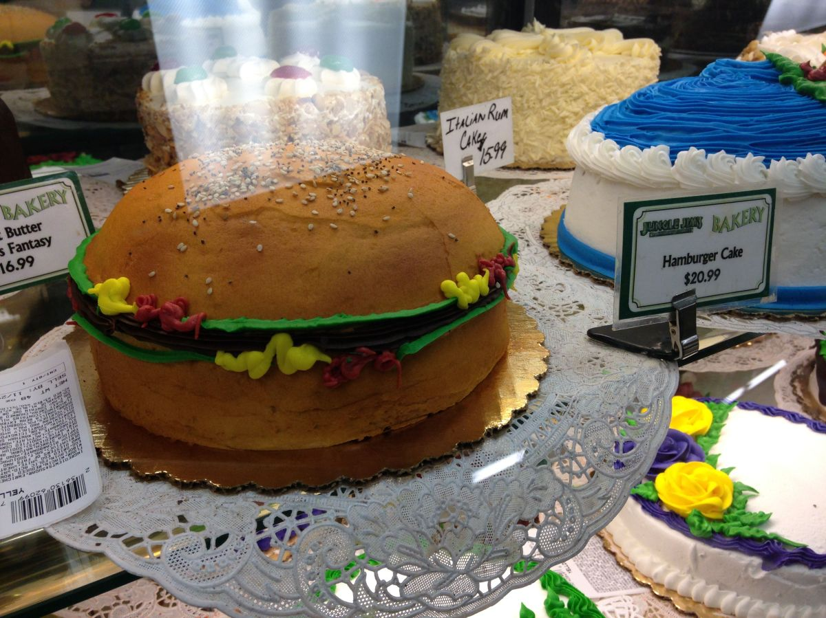 A hamburger cake.