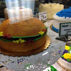 A hamburger cake.