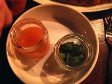 Chili oil and dried herbs