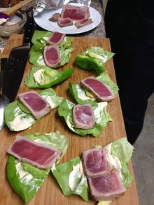 Seared Tuna wrapped in Boston Lettuce
