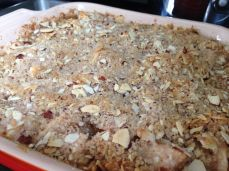 Just baked Pear & Amaretto Almond Crisp
