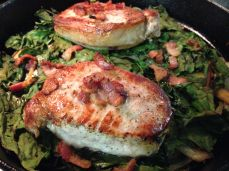 Pork Loin with Swiss Chard and Bacon