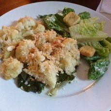 Baked Cauliflower and Spinach