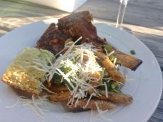 Clinton's Ribs, Pasta Salad and Zucchini Bake