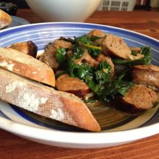 Sausages and Spinach
